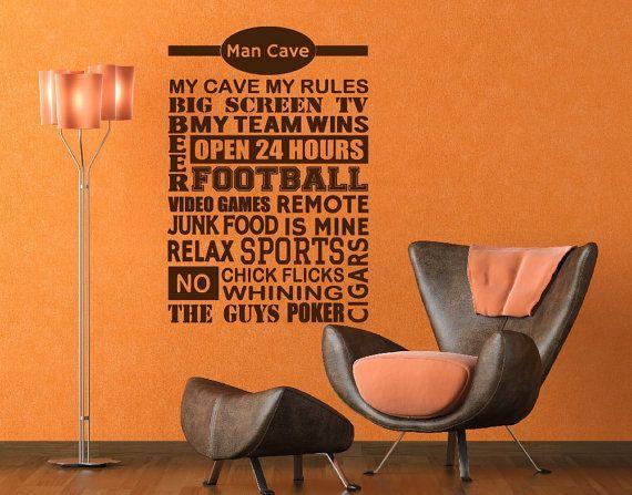 Man Cave Vinyl Wall Decor Ideas