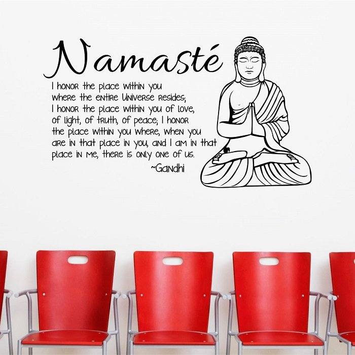 Namaste Buddhist Wall Decor Quote