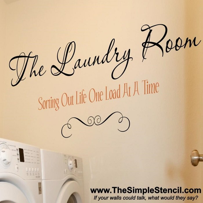 Sorting Out Life One Load At A Time Laundry Room Wall Decals And Decor The Simple Stencil